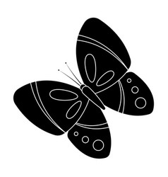 spring butterfly easter single icon in black vector image