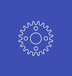 sprocket chain icon line vector image