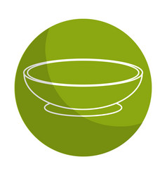 Sticker bowl to prepare delicious and healthy vector