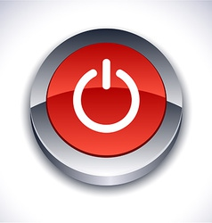 Switch 3d button vector