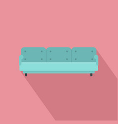 three place sofa icon flat style vector image