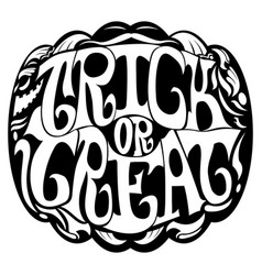 trick or treat emblem vector image
