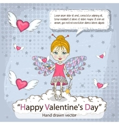 Valentines card with message vector image