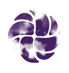 Volleyball violet halftone silhouette vector