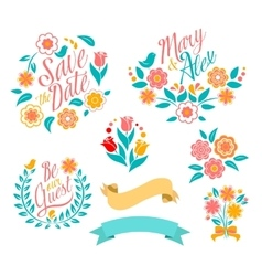 Wedding graphic set vector image