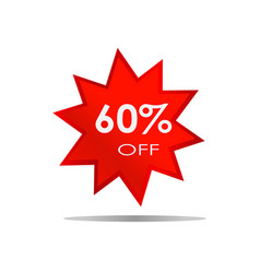 60 off sale discount banner special offer vector image