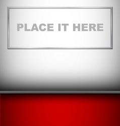 Big Empty Picture in gallery vector image