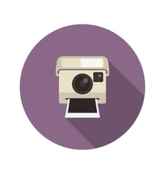 Instant camera vector image vector image