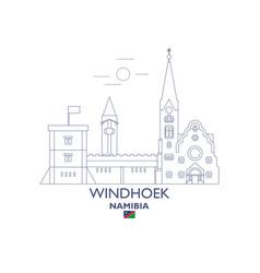 windhoek city skyline vector image vector image