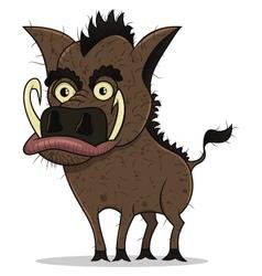 young boar vector image vector image