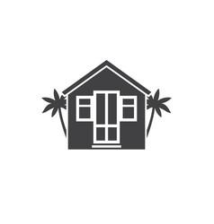 beach bungalow logotype vector image