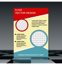 Brochure cover design vector image vector image