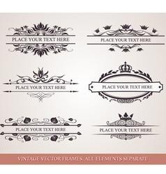 Design elements and frames vector image