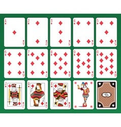 Playing cards of clubs vector