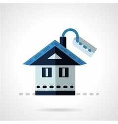 Property for sale flat icon vector image vector image