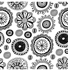 Seamless pattern of decorative design elements vector image