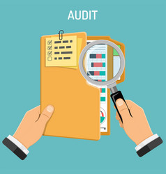 auditing tax process accounting concept vector image vector image