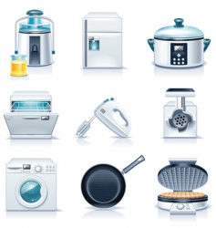 household appliances icons vector image vector image