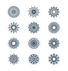 old arabic mandala lace patterns set arabesque vector image