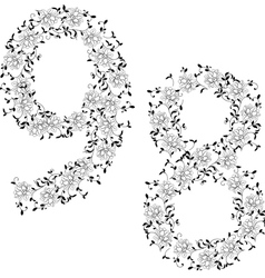 ornamental number 89 vector image