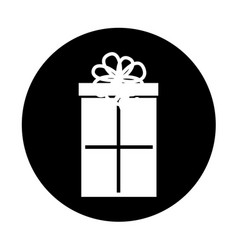 round icon christmas gift vector image vector image