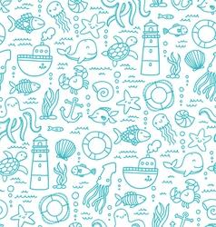Sea doodles vector image vector image