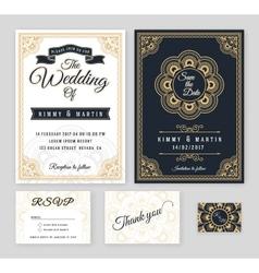 Vintage wedding invitation Mehndi mandala design vector image vector image