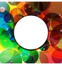Background Circle Rainbow Jungle vector image