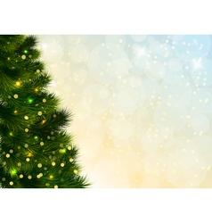 Christmas Tree Template vector image