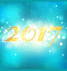 happy new year 2017 on blue abstract background vector image