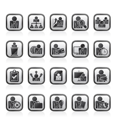 human resource and business icons vector image vector image