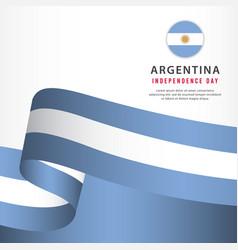 Argentina independence day celebration banner set vector