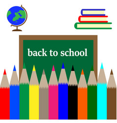 back to school postcard vector image