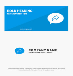 Basic chat arrow right solid icon website banner vector