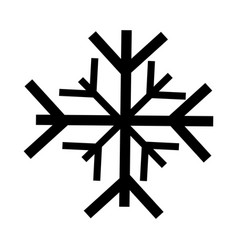black icon snowflake cartoon vector image