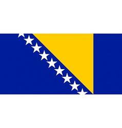 Bosnian and herzegovinian flag vector
