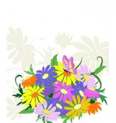 bouquet wildflowers vector image
