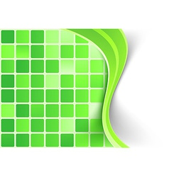 Bright green tile background template vector image