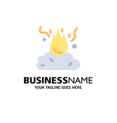 Burn fire garbage pollution smoke business logo vector