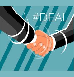 Business man shaking hands design vector