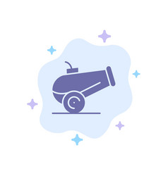 Canon weapon blue icon on abstract cloud vector