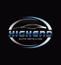 car auto detail logo symbol vector image