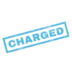 Charged Rubber Stamp vector