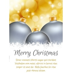 Christmas ball poster card vector image
