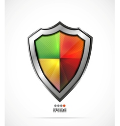 Colorful protection shield vector image