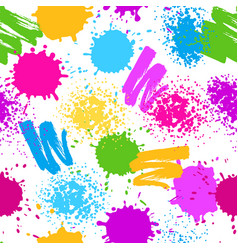 colorful seamless pattern grunge background vector image