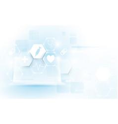 computer interface as medical icon virtual screen vector image