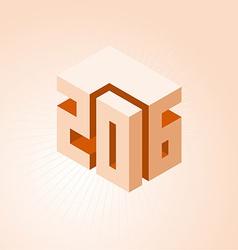 creativity year 2016 design vector image