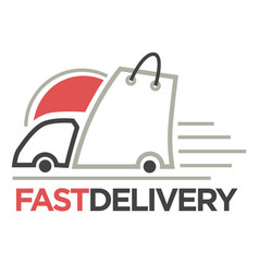 delivery logo template isolated icon for vector image