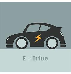 Eco racing car future of design concept vector